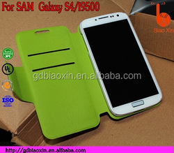 cheap mobile phone flip leather case cover for samsung galaxy s4, for waterproof shell for I9500