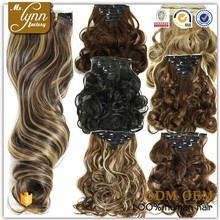 New fashion Indian long-curly-clip-in-human-hair-extension