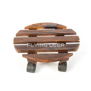 Good Quality Wooden Stand Flower Pot Holder With Wheels