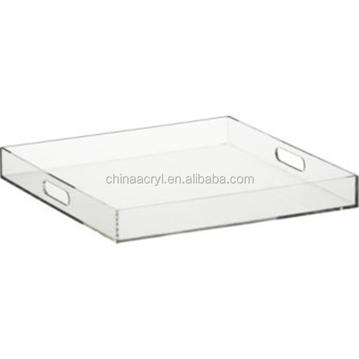 manufacturer customized clear acrylic tray wholesale
