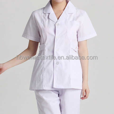 Hotsale factory price office uniform designs and pictures for women Polyester/Cotton 65/35 for garment