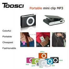 Bulk wholesale multicolors sport clip mini MP3 player with TF/SD card slot support 1-8GB