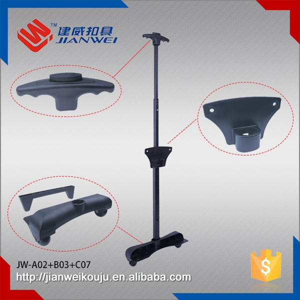 Top Quality rolling bag Luggage telescopic Single trolley handle JW-A02+B03+C07