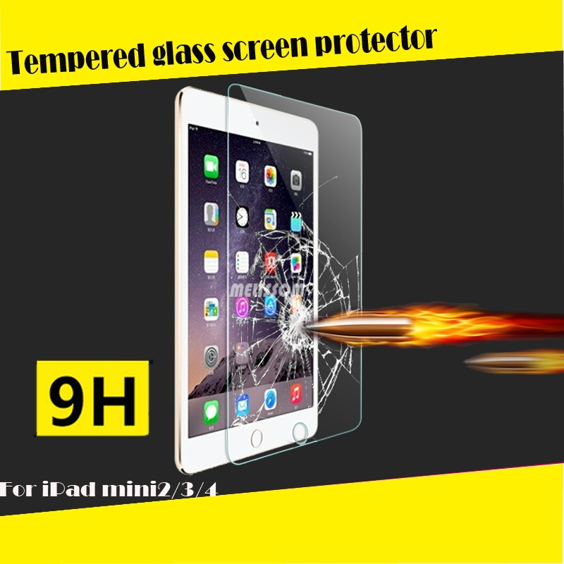 New Arrival!100% fit for ipad mini 2/3/4 full cover tempered glass screen protector welcome oem/odm