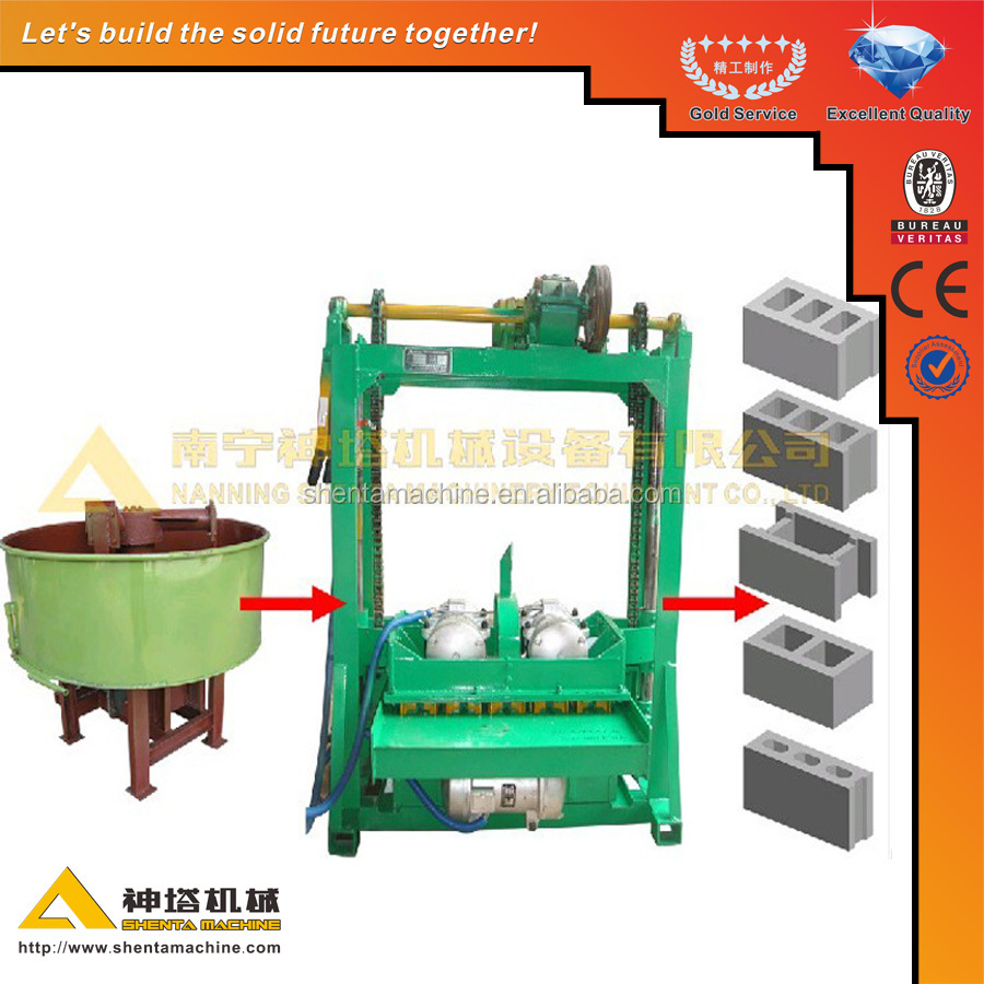 QTJ4-60 small machines for business, manual hollow block making machine