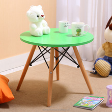 Modern korean style wooden round dining table for kids