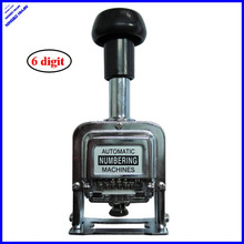 Office all metal 6 digits self-inking automatic hand numbering machine