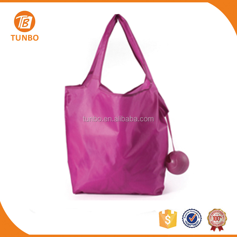 New fashion bag Folding Ball Shaped Polyester Shopping Bag