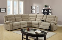 Home furniture reclining no inflatable corner sofa half-moon sectional sofa