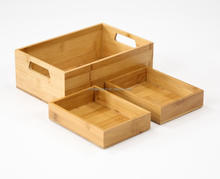 Wooden Storage Fruit Tray 3 Tier Wood Tray