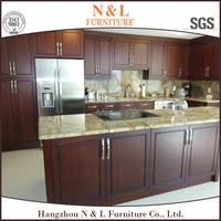 Shaker style birch solid wood Kitchen Cabinet ( nature wood / chocolate / espresso),kitchen