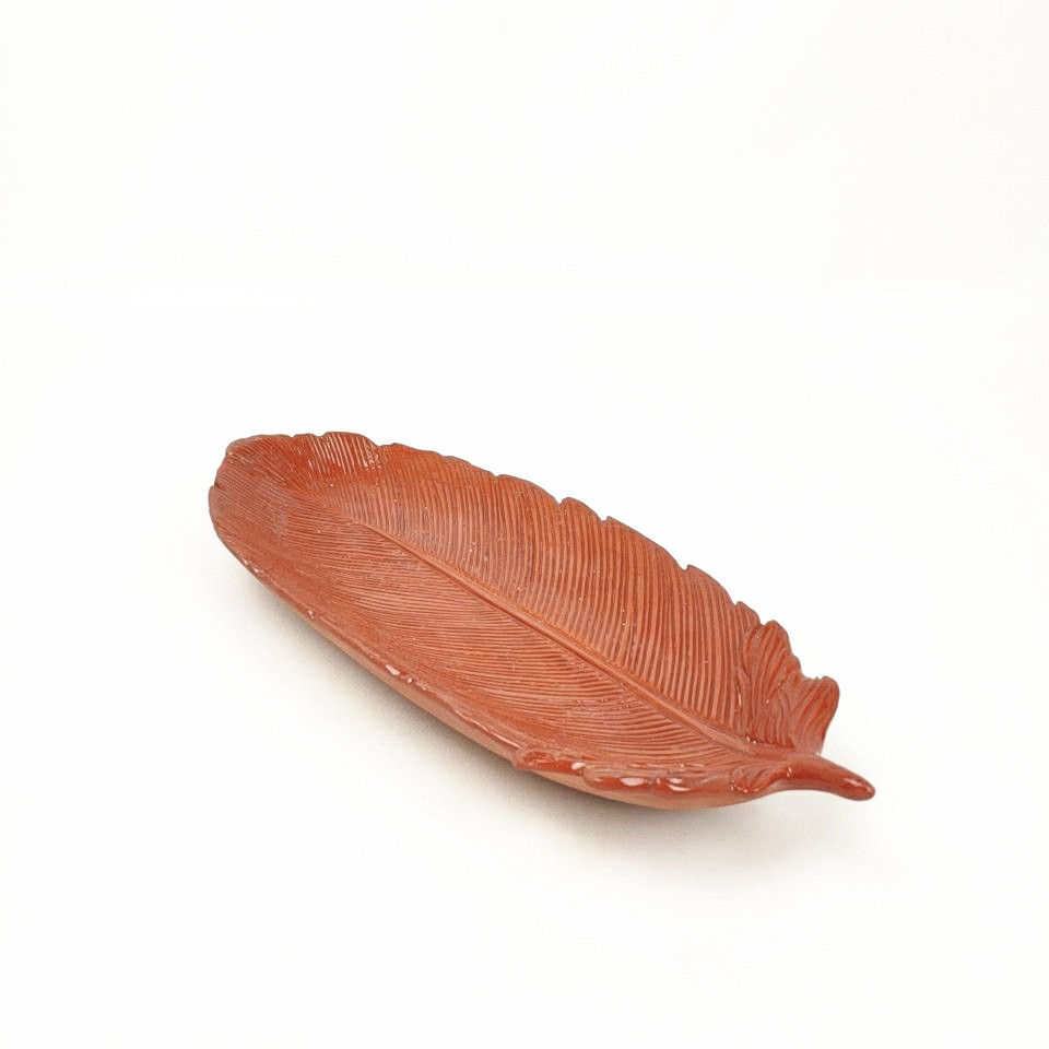 New design Wholesale decorative Ceramic terracotta stoneware leaf plate