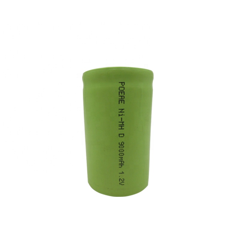 Flat top rechargeable nimh battery cell 1.2v d size 9000mah