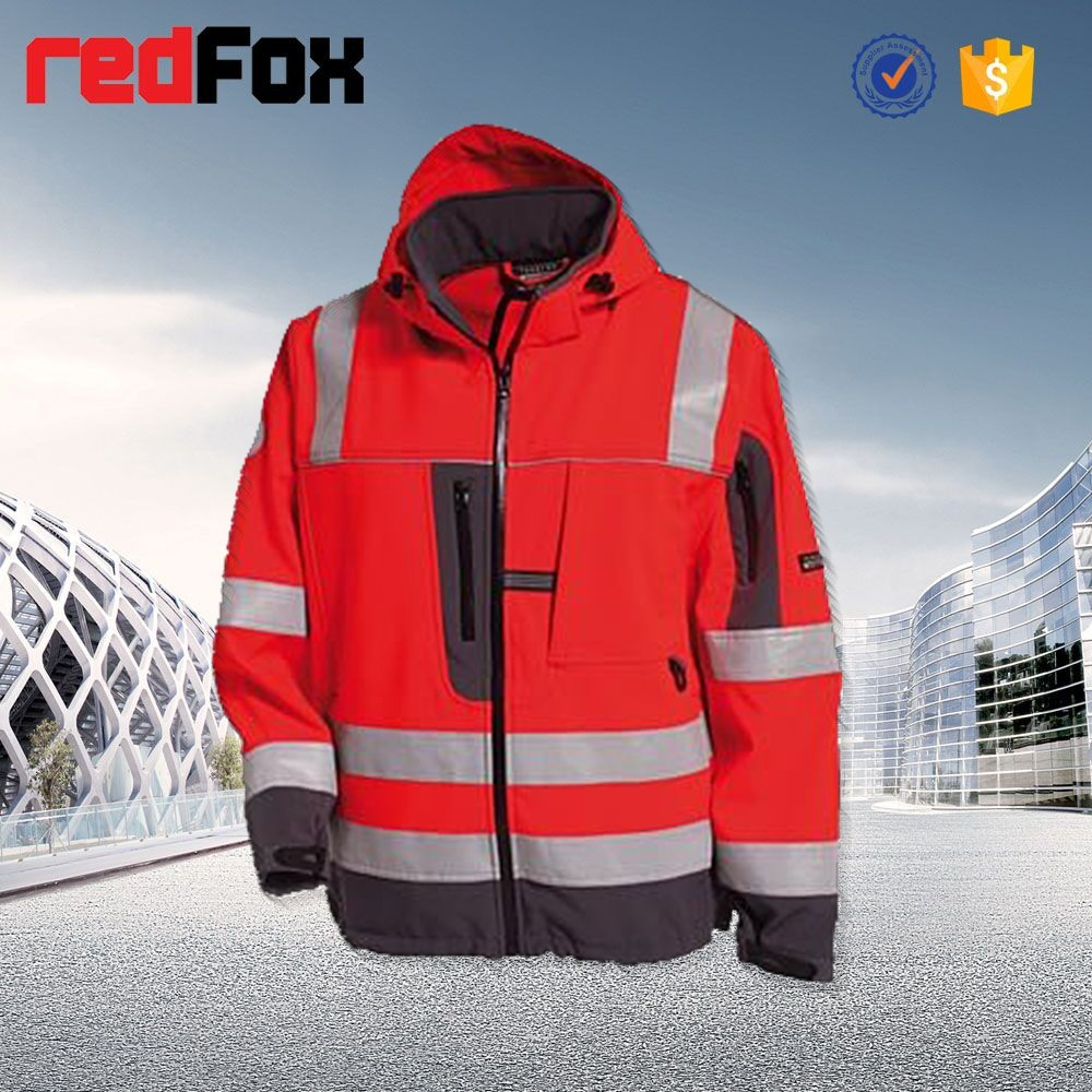 high visibility safety waterproof jacket for men