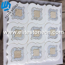 Luxury cheap price arabesque Morrocan Lantern Thassos White marble mosaic tile for wall tile