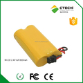 NI-CD 2.4V 600mah AA rechargeable battery pack for emergency light