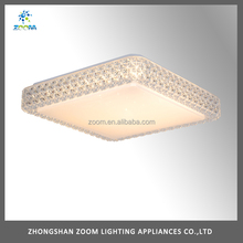 Modern 24W led bedroom lighting, bedroom ceiling light with clear acrylic imitation crystal cover