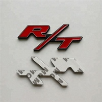 RT R/T Car Metal Red 3D Letter Custom Sticker Badge Emblem