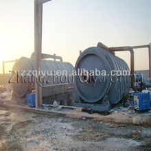 Waste plastic pyrolysis oil refining system
