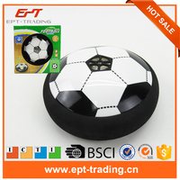 Hot sale battery operated air hover football soccer game table with light