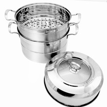 3 Tiers Industrial Stainless Steel Large Food Steamer/Stackable Cooking Pot&Steamer