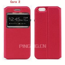 Alibaba express view window leather case for Samsung Galaxy Core 2 G355h,flip case stand cover for Samsung Galaxy Core 2