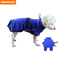 wholesale microfiber dog bathrobe pet towel clothes strong water absorption