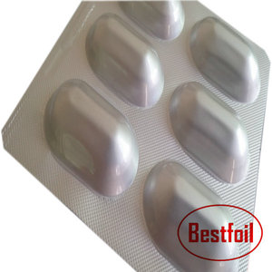 Pharmaceutical use and soft alu alu bottom pill aluminum blister foil packs