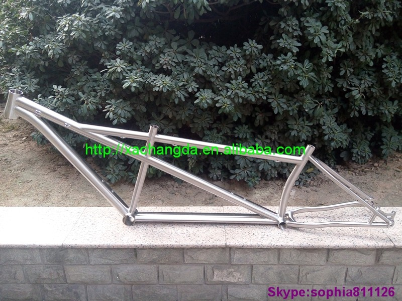 Classic titanium capital tandem bike frame Hot sale titanium stalk tandem bike frame XACD made titanium bicycle frame