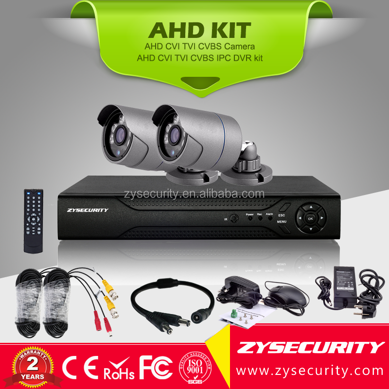 2ch AHD 4in1 CCTV <strong>System</strong> 4 Channel 5in1 DVR cheap1mp 720P Warterproof Night Vision IR-CUT IR Camera Kit