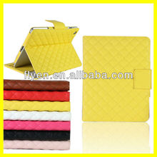 Deluxe Clip Flip wallet case for ipad mini Smart Cover Magnetic Folio PU Leather Cases Covers for iPad Stylish Pattern Yellow