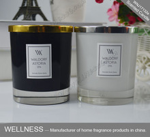 Luxury fragrance scented soy candle supplier