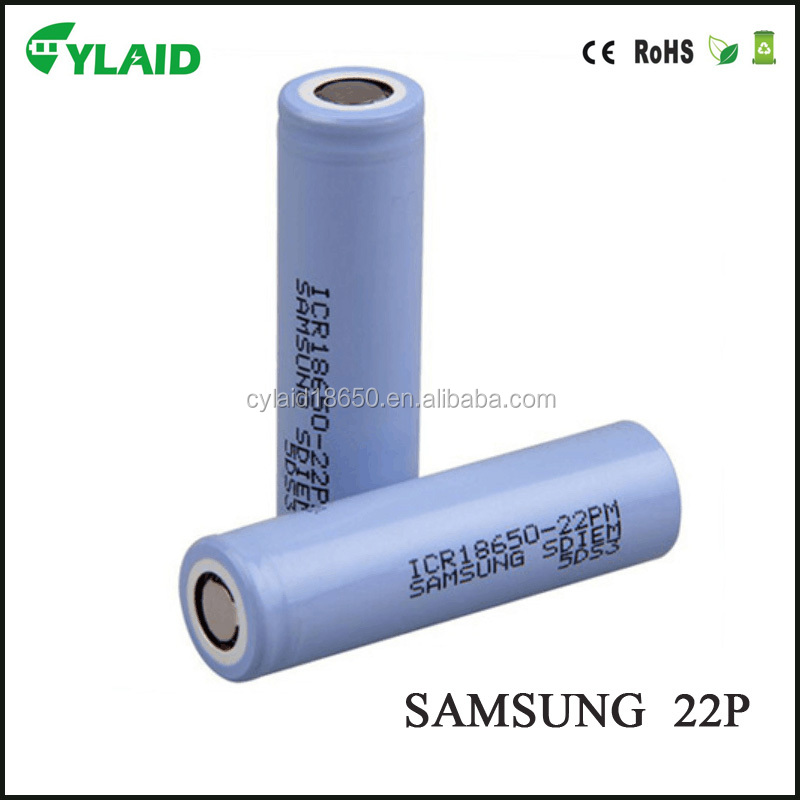 promotion price for samsung 22p 3.7v 2200mAh high capacity mechanical mod 18650 battery