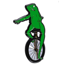 Custom hard enamel metal frog badges cheap design frog lapel pins