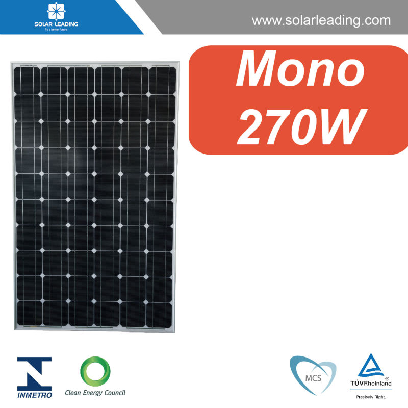 MCS approved 270w solar cell pv modules connect to inverter solar for solar panel home system grid tied