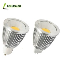 China Alibaba Supplier LED Light Dimmable Bulb IP44 CRI>80 AC110-240V DC12V GU10 MR16 5W 15W COB LED Spotlight GU10 15W COB LED