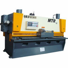 QC11Y 13mm thick nantong 3600mm metal plate DAC310 line rail shearing cutting machine