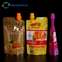 PE Plastic juice package bag, Luxury spout package, Spouted bag with cap