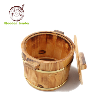 High Quality handmade old wooden bucket Acacia Barrel on sale