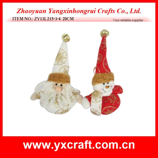 Christmas decoration (ZY13L215-3-4 20CM) white santa and red snowman gift item christmas item