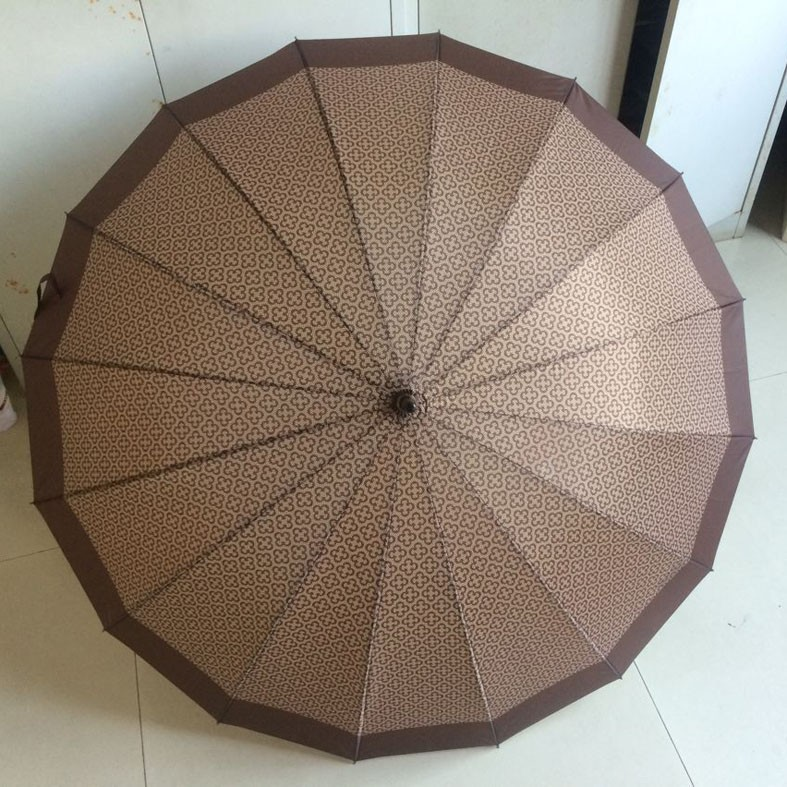 25''*16k auto open straight umbrella with hot transfer printing