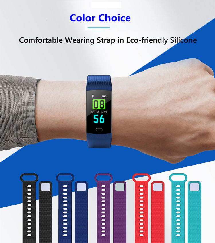 cheap fitness wristband smart watch with blood/heart rate monitor