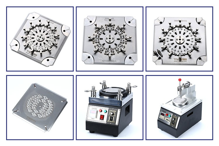 LC PC connector optical fiber stainless steel polishing jig