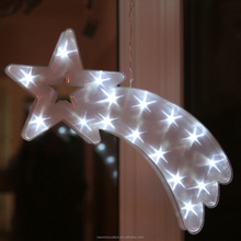 Hanging White Led 3D Pvc Star+Moon Housing Decor Light
