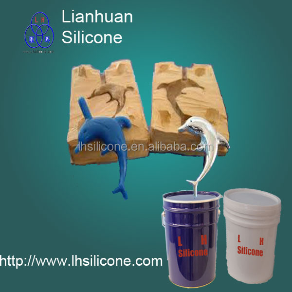 manual Rtv2 <strong>silicone</strong> for pu/resin for decorative concrete concrete, statue, toys, stone mold