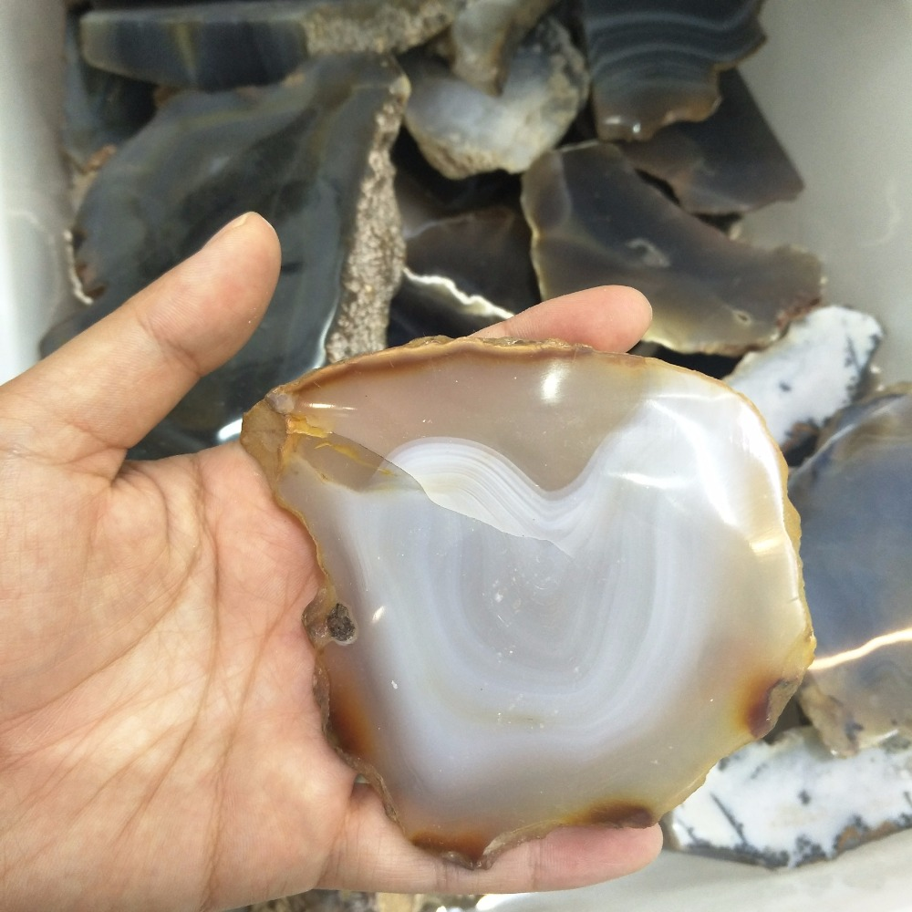 Natural polished agate quartz crystal slices for wholesale