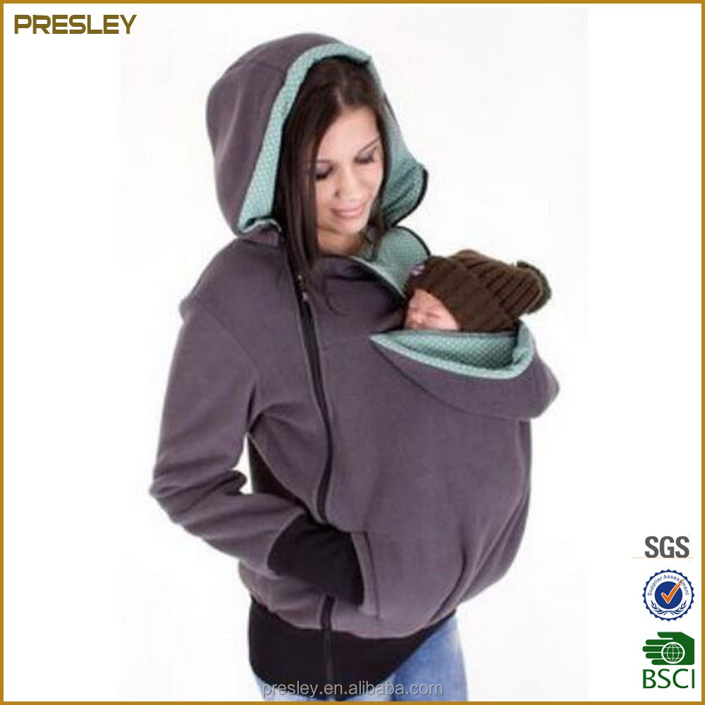 Baby Loading custom hoodie 3 in 1 function baby carrier hoodie cusom jackets in cotton from china