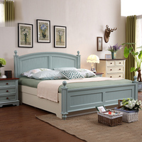 Double Bed Design Furniture Solid Wood