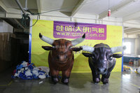 2015 giant inflatable moving cartoon cow for advertising