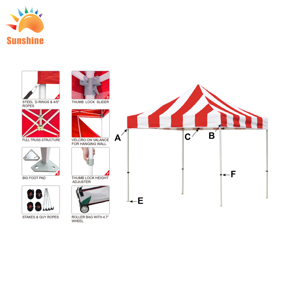 Best Selling Promotional for wholesales 10 x 10 canopy tube trade tent